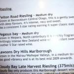 Ted sr gedronken bij de Thai in kaikoura, zalige wijn. Echter bij Pegasus Bay zelf was hij niet te drinken...