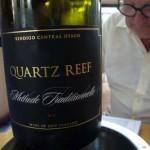 Bubbel genoten tijdens lunch bij Rippon Valley Wines, bij Queenstown