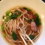 noodles en de bouillon